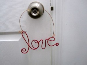 "Rachel Lynn Studio ""love"" wire door hanger ($12)"