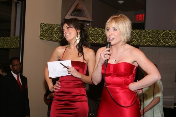 Me and my sister-in-law Missy Scalia hosting the first Lady in Red event in 2009 (yes, I had bangs! eek!)