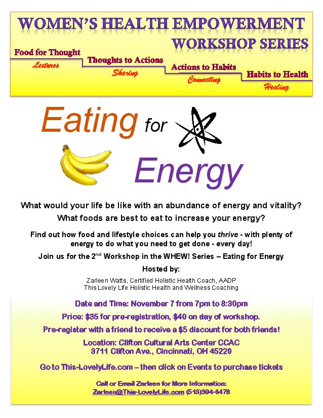 Health Empowerment flyer -Energy-CC