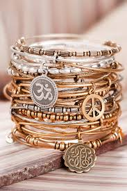 Alex and Ani stackable bracelets