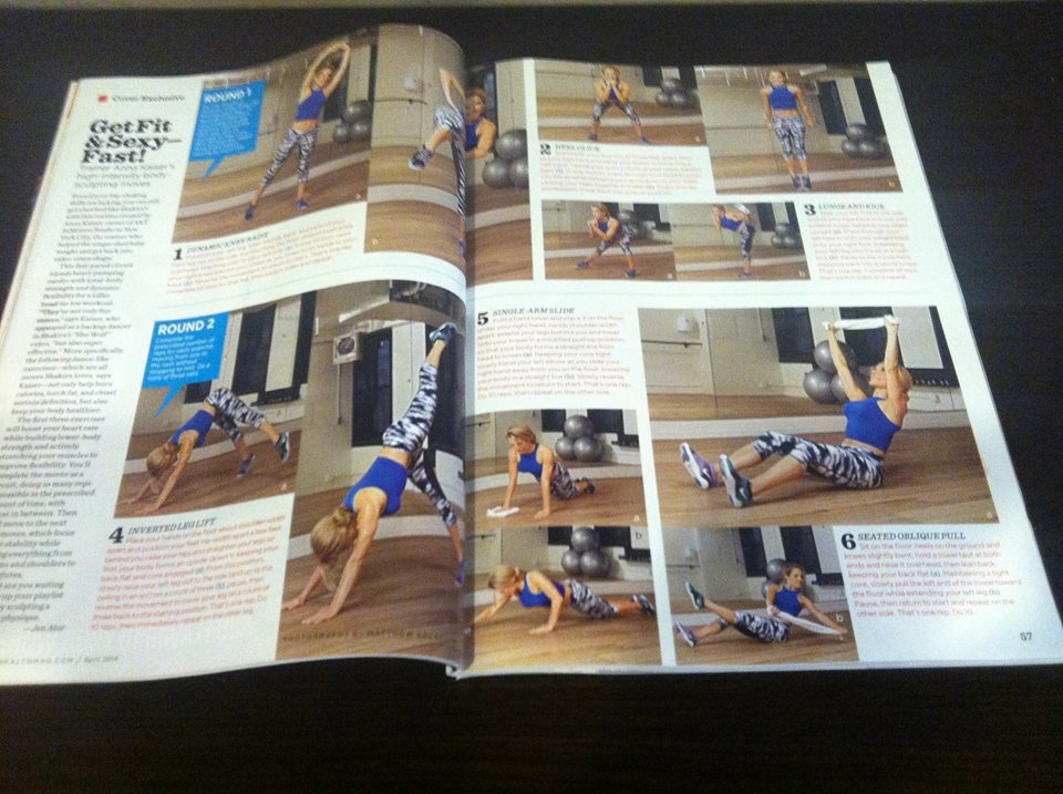 April issue of Women's Health where Turn It On Fitness is featured!