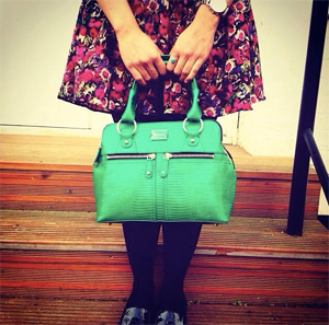 The Lizard Mini Pippa Bag in Emerald Green