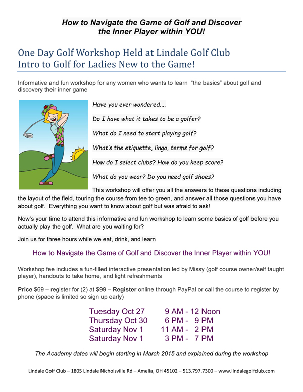 golf one day clinic