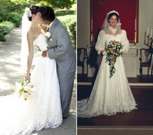 A refashioned wedding dress I found on Alterations by Toni's Facebook page! How amazing is that?!?